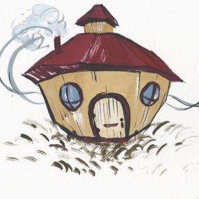 Little House (Gouache Painting)