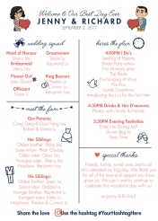 Infographic Card for Reception 1 of 2