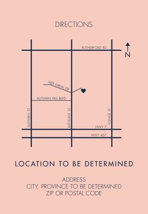 Custom Wedding Venue Location Inserts