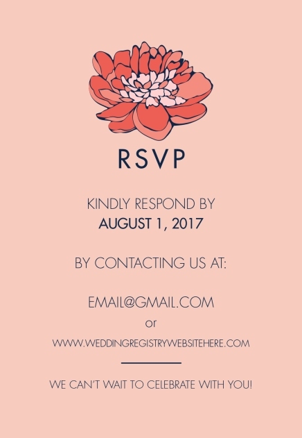 Custom Wedding RSVP Card Inserts